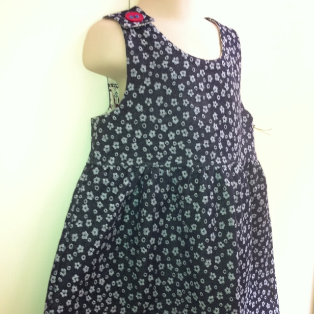 Flower pattern denim dress size 1 - 3 $35. Larger sizes can be made to order