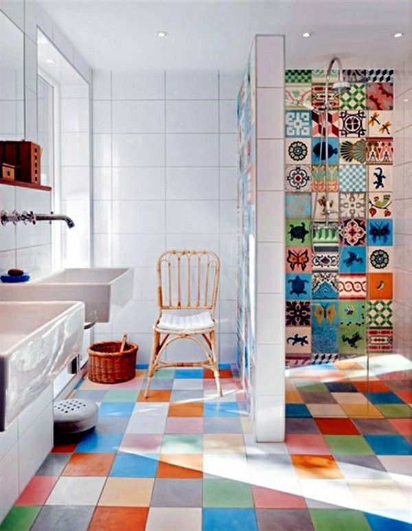 Bathroom tile over glue - Tile stickers for old, dull tiles