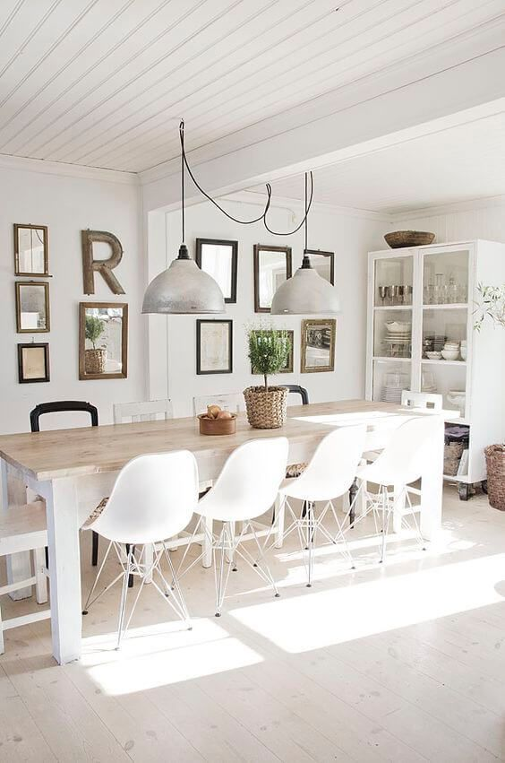 77 Gorgeous Examples of Scandinavian Interior Design White-Scandinavian-dining-room