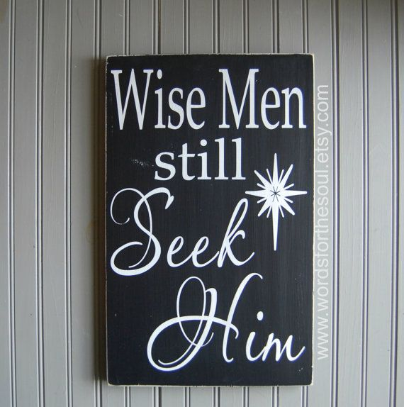 Wise Men Wisemen Still Seek Him Christmas Christian Sign Typography Scripture Subway Art Wooden Sign on Etsy, $45.00