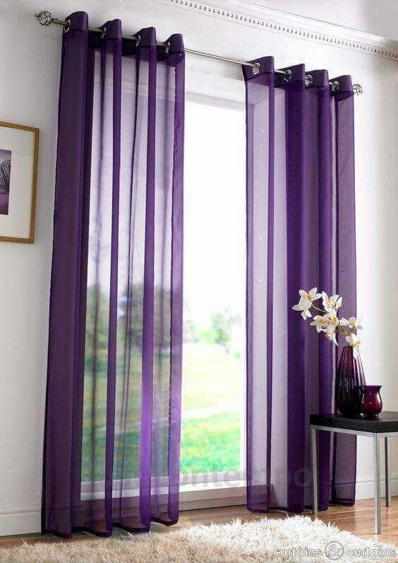 Purple sheer panels