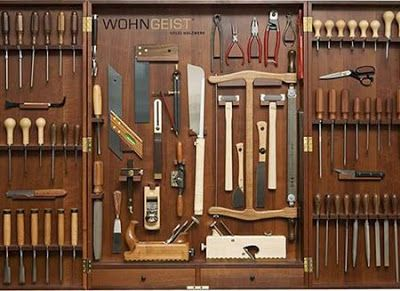 There are tools for every type of project you need to do. For instance:  Painting - Paint brushes, roller handles, rollers of different naps...