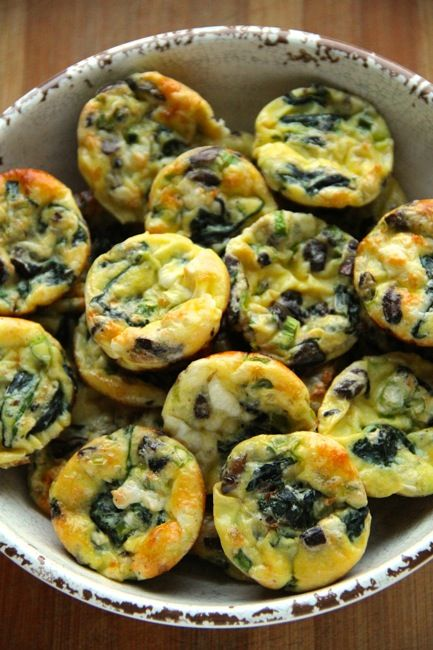 Spinach and Feta Mini Frittatas
