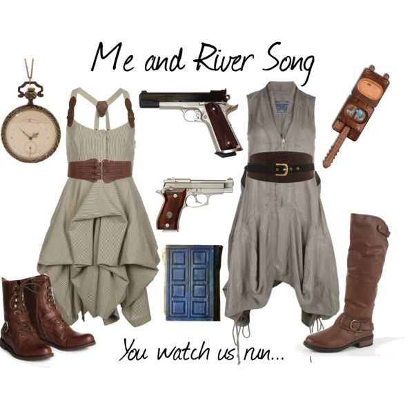 """""""River and I"""" by gracefulgirl on Polyvore I want to cosplay river so badly... Maybe next year..."""