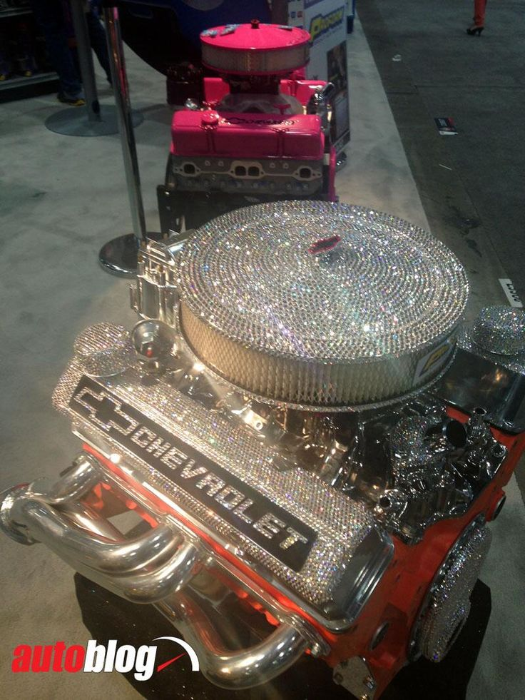classic Chev engine. This is a tad bit over done to me but still pretty ...haha wow?!!