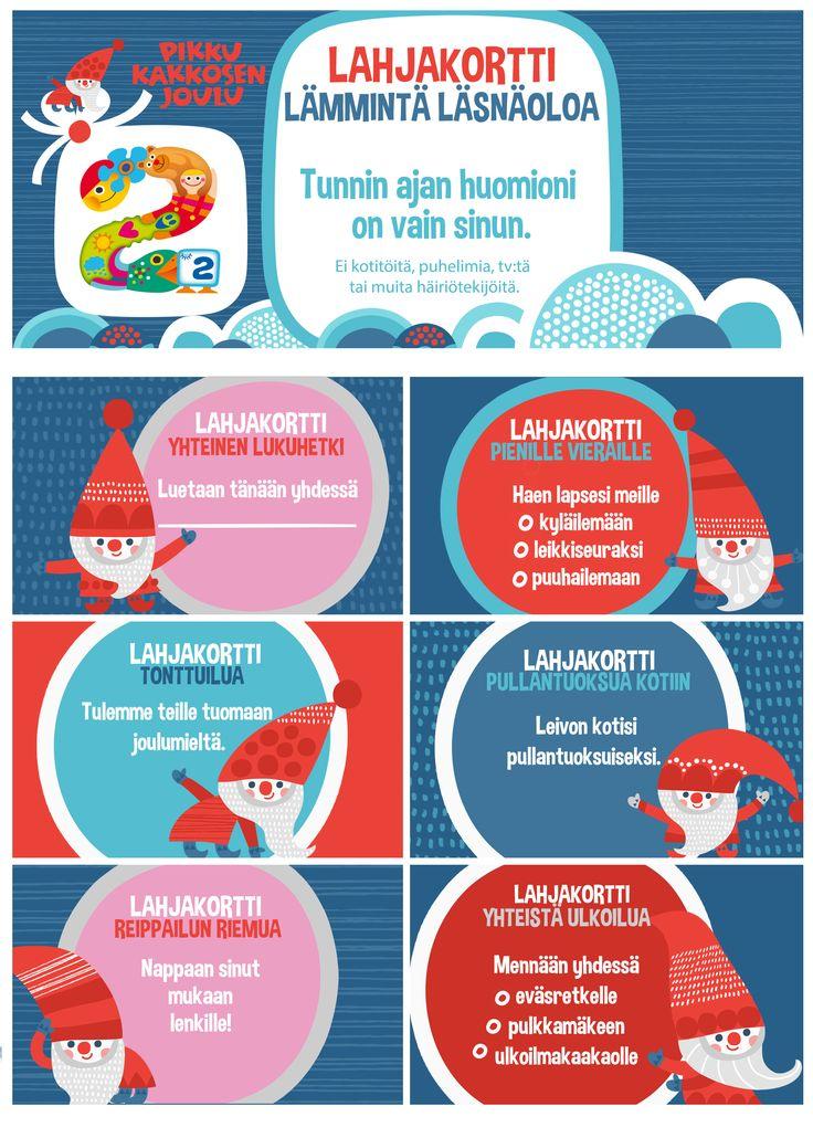 free printable pattern | tulostettava | I lahjakortti I joulukortti | lasten | lapset | joulu | idea | askartelu | kädentaidot | käsityöt | tulostettava | paperi | koti | leikki | DIY | ideas | kids | children | crafts paper | christmas | card | gift card I home | Pikku Kakkonen