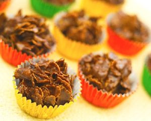 Double recipe and use some milk as well as dark chocolate for party!  Chocolate cornflakes: Recipes: Good Food Channel