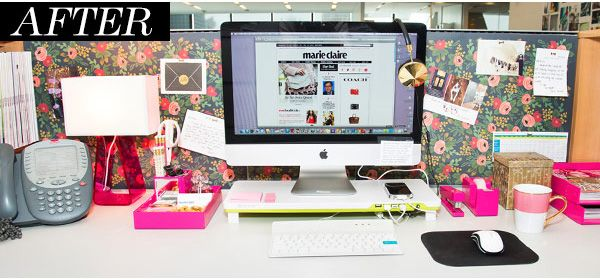 Cubicle Makeover Ideas - Office Desk Decorations - House Beautiful
