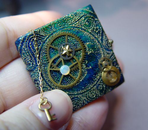adorable mini steampunk book