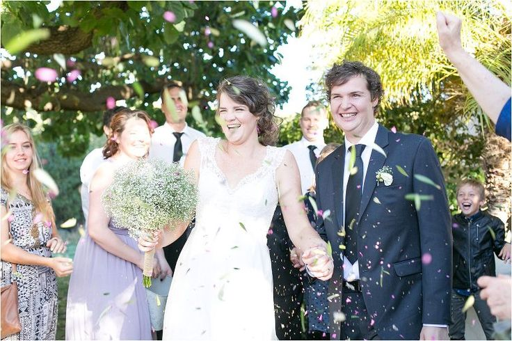 Natural herbal confetti | Wedding | Wolfkloof Wine Estate | Robertson - Alexandra Graham Photography