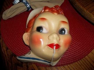 16 Best Chalkware String Holder Plaster Faces Images On