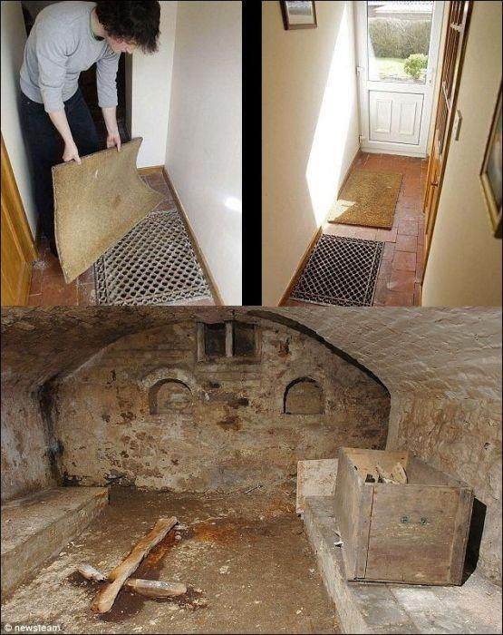Family discovers ancient chapel hidden under their house. How awesome is that?!  Shropshire, England