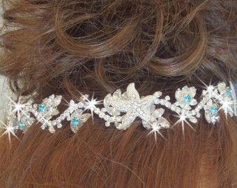 Tiara de la boda de estrella de mar Tiara de por FlutterbyFrippery