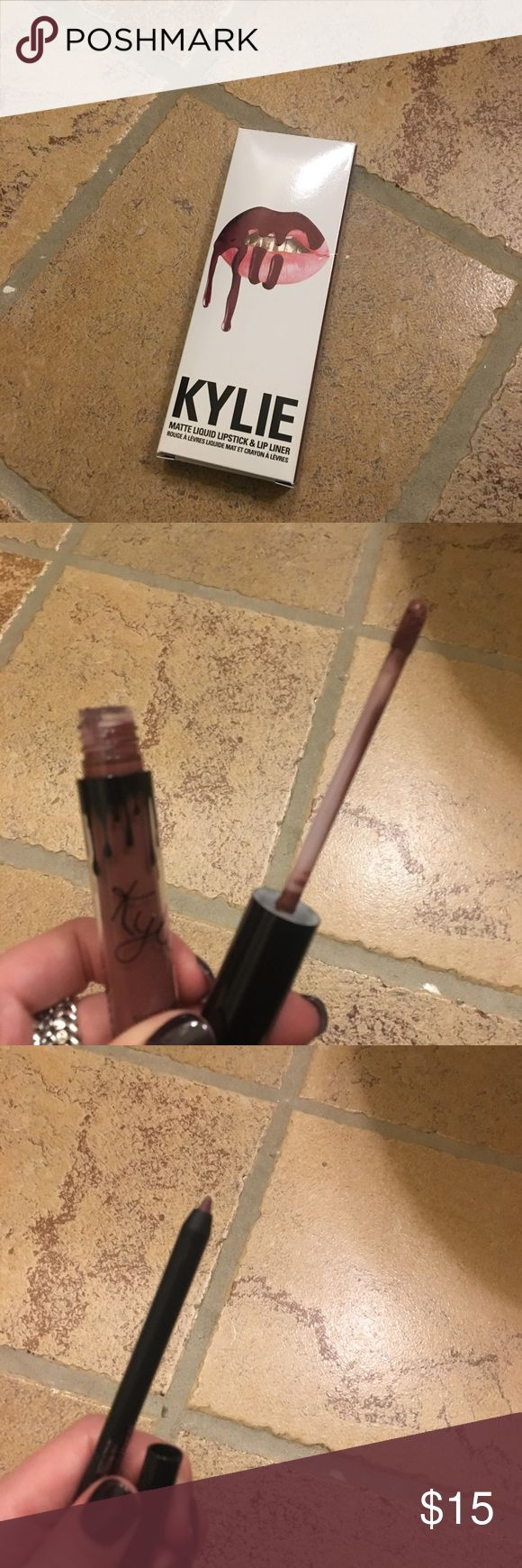 Kylie Jenner Lip Kit Love bite Never used, authentic Kylie Jenner Lip Kit.  Love Bite color Kylie Cosmetics Accessories