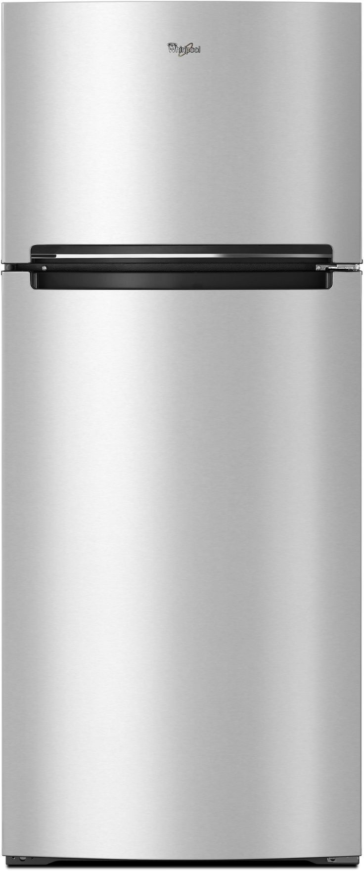 Whirlpool WRT518SZFM 28 Inch Top-Freezer Refrigerator with Pocket Handles, Flexi-Slide Bin, Gallon Door Storage, 17.6 cu. ft. Interior, Frameless Glass Shelving, 2 Humidity Controlled Crisper Drawers and Electronic Temperature Controls: Stainless Steel