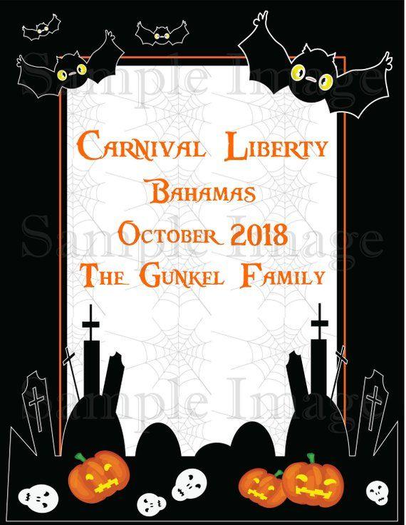 067637966 Halloween Cruise Door Magnet