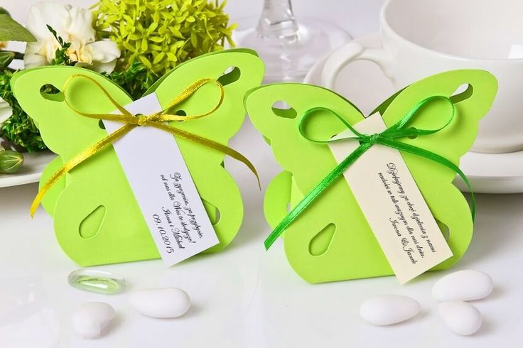 Podziękowania, pudełeczka dla Gości motylek będą wspaniałą pamiątką i niezapomnianą ozdobą Waszego przyjęcia. Idealne też dla dzieci podziękowania motylki !!