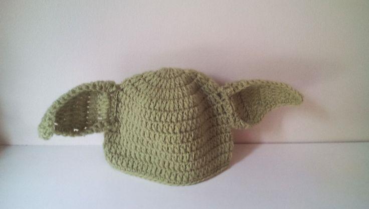 Crochet Yoda hat, baby Yoda hat, newborn Yoda hat, Yoda hat, starwars hat,  ready to ship by crochetfifi on Etsy