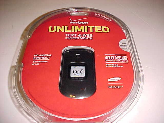 Samsung Gusto 2 Verizon Unlimited Text & Web Charcoal Gray Flip Cell Phone New #Samsung #Flip
