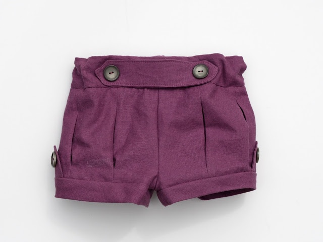 baby finch shorts   using clever charlotte pattern
