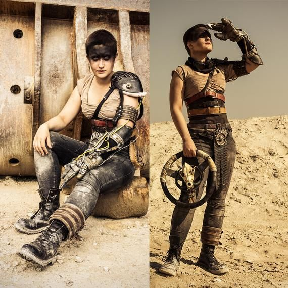 Furiosa Cosplay Suit Inspired By Mad Max Fury Road The Movie Etsy In 2020 Furiosa Costume Leather T Shirt Immortan Joe