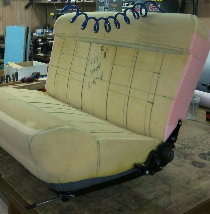 custom 32 ford seat foam work finished and ready to start the seat cover auto upholstery. Black Bedroom Furniture Sets. Home Design Ideas