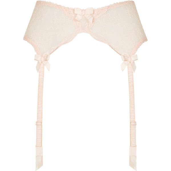 Agent Provocateur Love Suspender Peach ($22) ❤ liked on Polyvore featuring intimates, garter, lingerie, underwear, bridal, bridal lingerie, peach, suspender, agent provocateur lingerie and lacy lingerie