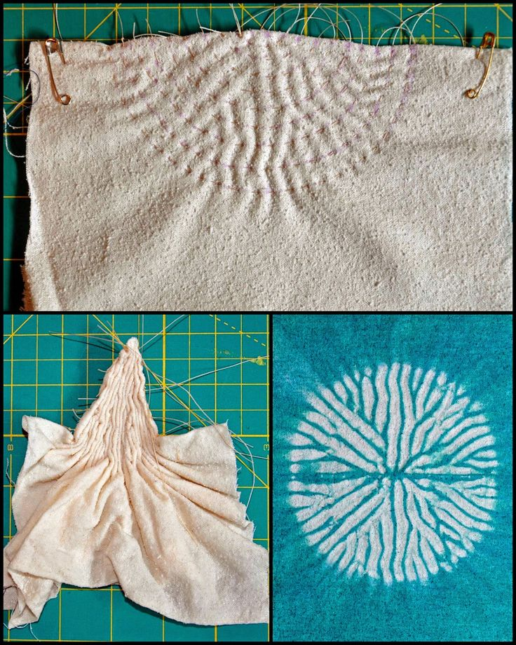 ...And Then We Set It On Fire: Week 2 Stitched Shibori Curved Lines