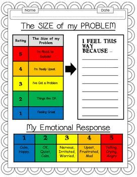How Big Is My Problem Worksheet Bundle Anxiety And Worry In Kids