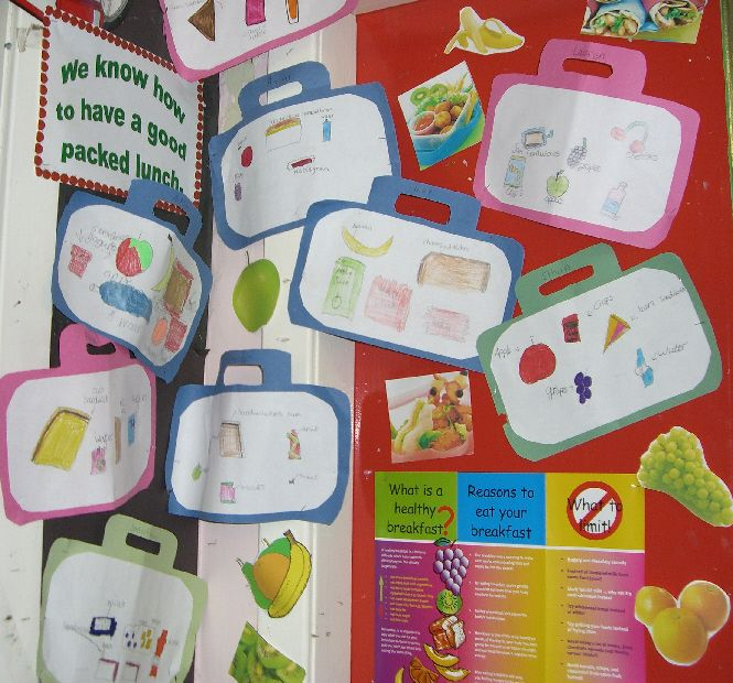 Healthy Packed Lunches Classroom Display Photo Photo
