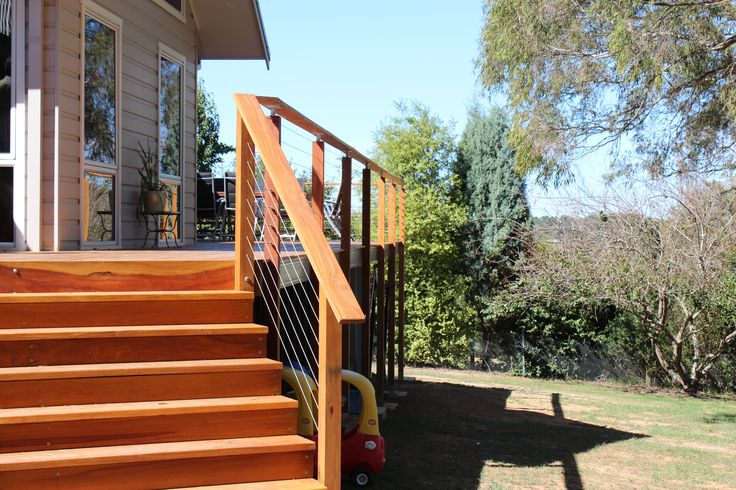 Steel Deck Boards ~ Deck frame constructed from boxspan steel beams with