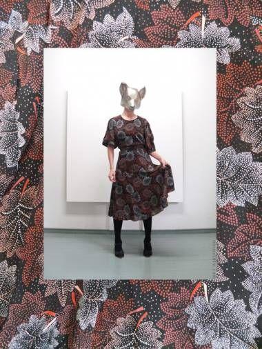 80's floral print day dress Photo © Salla Poutiainen