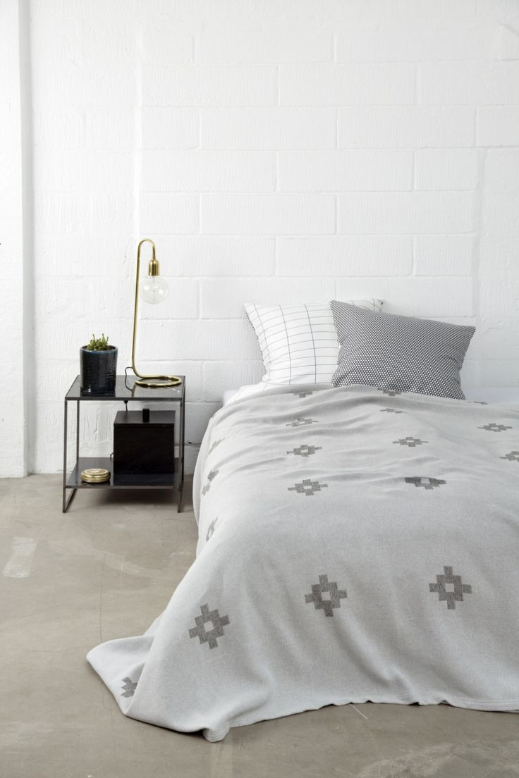 Camino bedspread in grey from Mette Ditmer