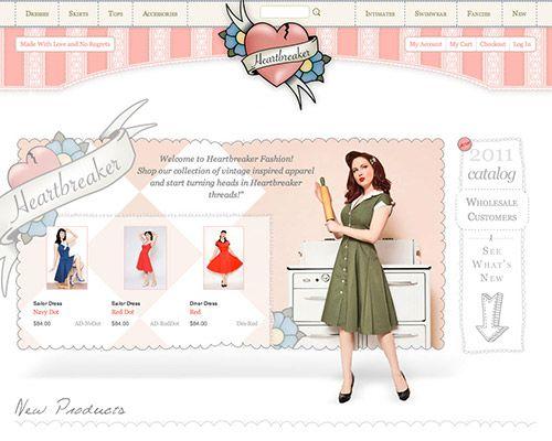 http://heartbreakerfashion.com/  beautiful web commerce design