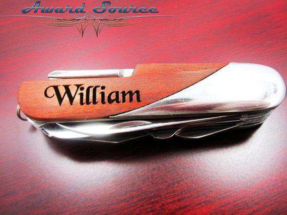 Wedding Gift - Best Man Gift - Engraved Swiss Pocket Knife - Custom Engraved Gifts, Pocket Knife