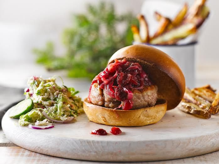 An alternative spin on  Christmas Dinner...Turkey Burgers #Gousto #Christmas #Turkey
