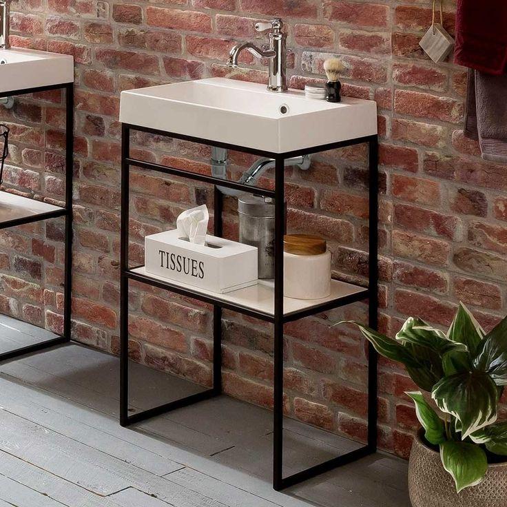 Offener Waschtisch Mit Becken Im Loft Stil Ulivia