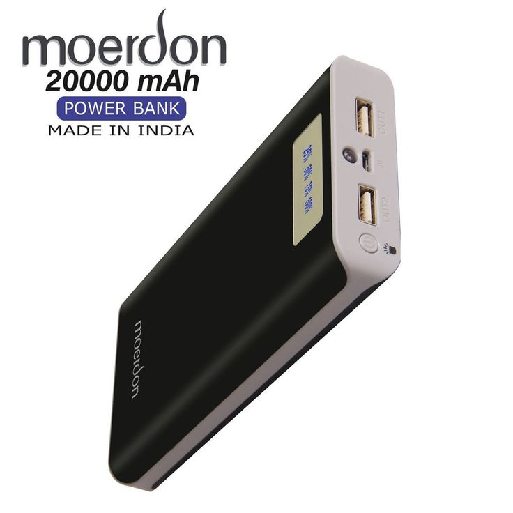 MOERDON Mobile  PowerBank 20000 mah dual USB OUTPUT Port With 1 Year warranty | eBay