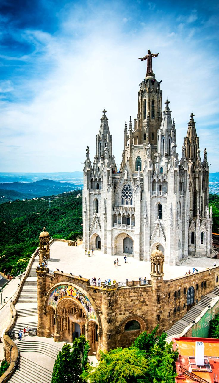 Christ statue overviewing Barcelona city from Tibidabo Church, Spain | 24 Reasons Why Spain Must Be on Your Bucket List. Amazing no. #10