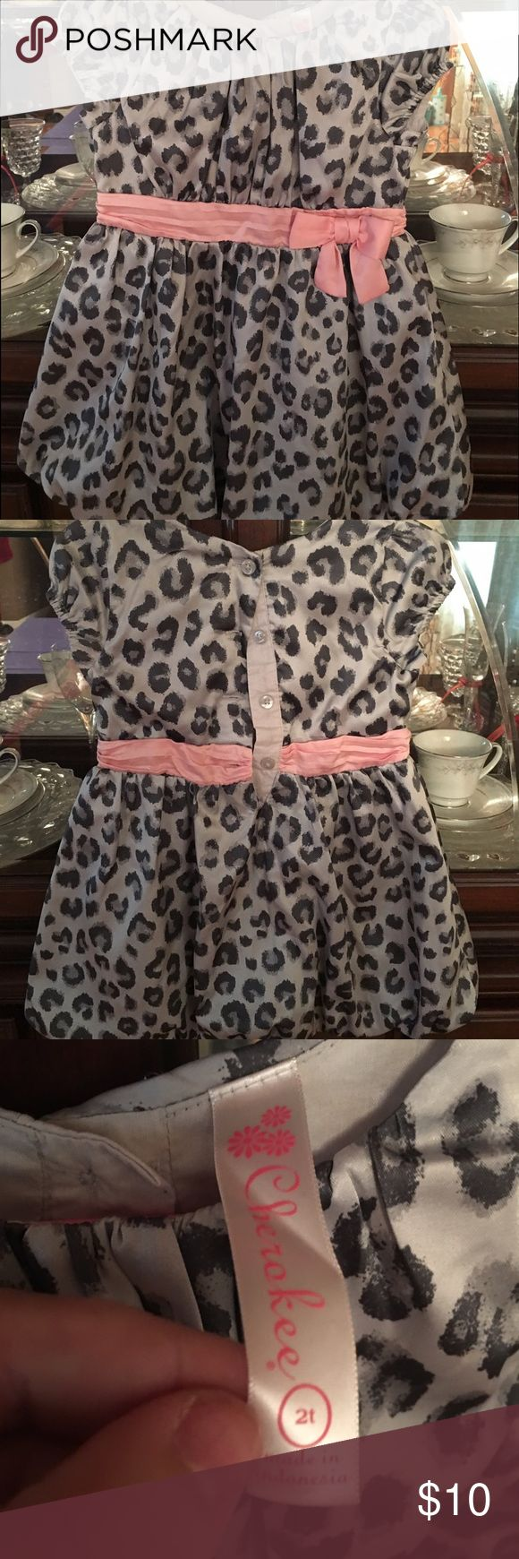 Cherokee brand 2T dress Cherokee 2T leopard bubble dress. Absolutely adorable. Like new condition. Cherokee Dresses Casual