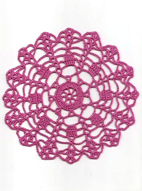 Crochet Doily Lace Doilies Table decoration Crocheted Doily