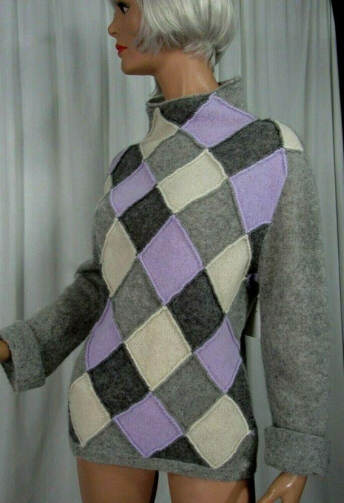 464ce3ac018 Burberry London Womens Sweater Pullover Purple Lavender Grey Size S M   BurberryLondon  Pullover