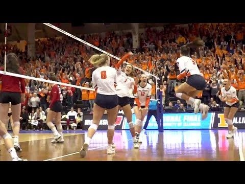 These Volleyball Highlights Are Featured On College Hype Intro Volleyball Videos And Shown At The Beginning Of Ncaa Volleyball News Volleyball Volleyball Gifs