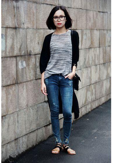IAN CHEN - Long knit cardigan