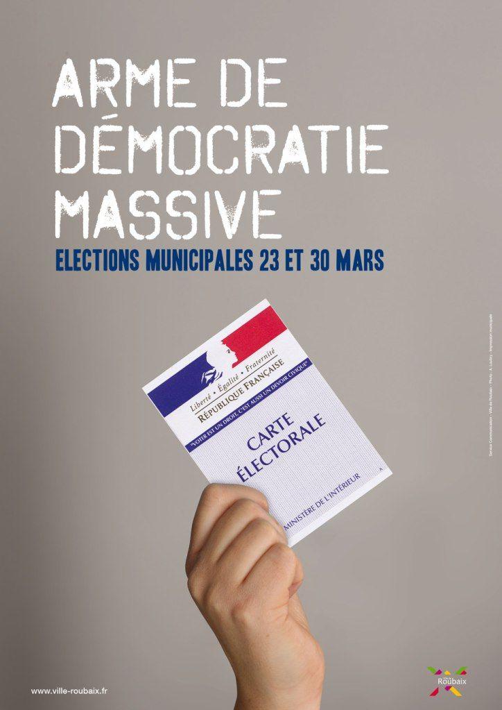 Elections municipales de 2015© création Amandine Derachinois - Ville de Roubaix