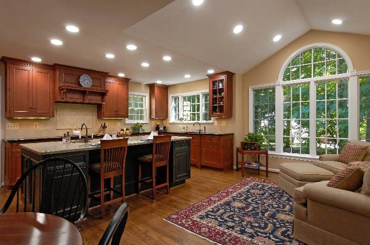 Open Concept Kitchen And Living Room White Novocom Top