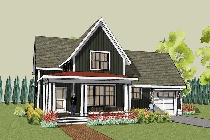 17 best narrow lots images on pinterest small houses for Cool house plans farmhouse