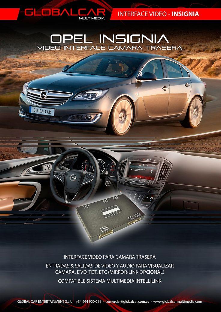 Ficha Interface Video Camara Trasera para Opel Insignia - http://www.globalcarmultimedia.com/ficha-interface-video-camara-trasera-para-opel-insignia