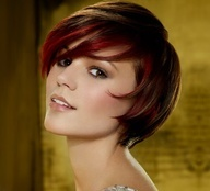 bob haircuts with red highlights (maybe)