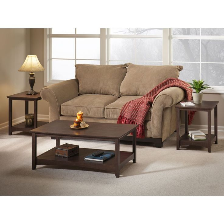 Buena Vista Madison Cherry Coffee Table With 2 End Tables By Bush Furniture